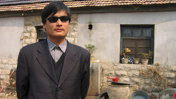 Chen Guangcheng has accused the Chinese authorities of persecuting his family. (Photo: China Hush)