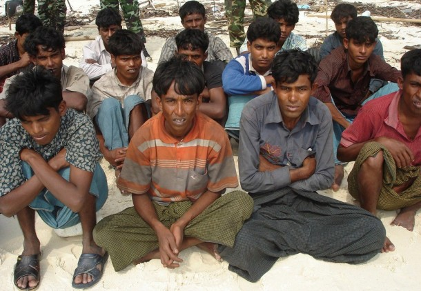 In a similar incident in 2008, a group of boatpeople were detained on the Thai island of Koh Sai Baed. (PHOTO: Reuters)