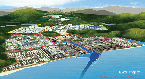 Artist's impression of how the finished Dawei project will look. (Photo: daweidevelopment.com)
