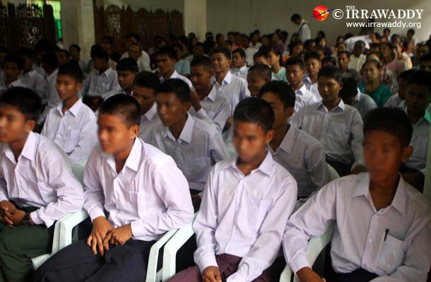 Child soldiers who were discharged from the Burmese military earlier this month. (Photo: The Irrawaddy)