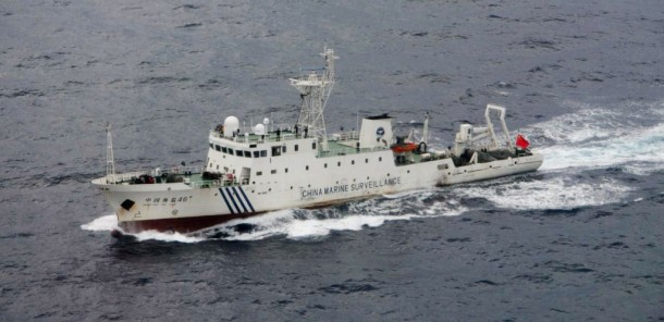 Chinese patrol ship Haijian 46 sails near the disputed islands in the East China Sea, known as Senkaku in Japan or Diaoyu in China. (Photo: Reuters)