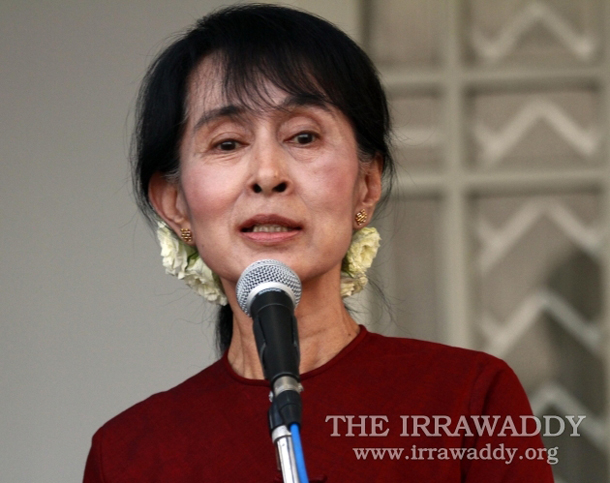 Aung San Suu Kyi, pictured in Rangoon in March. (PHOTO: THE IRRAWADDY)
