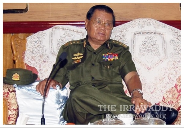 Former Snr-Gen Than Shwe before he resigned as head of Burma's military junta (Photo: The Irrawaddy)