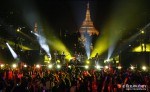 A crowd of about 50,000 people at the base of the famous hilltop Shwedagon Pagoda in Rangoon joins Jason Mraz's concert on Sunday night. (Photo: Jpaing / The Irrawaddy)