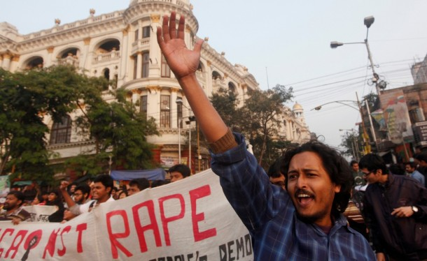 A demonstrator in Kolkata shouts slogans during a rally to show solidarity with the rape victim in New Delhi. (Photo: Reuters)