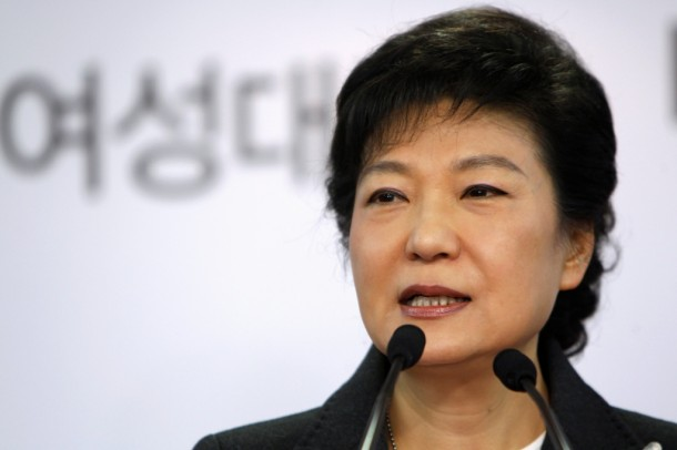 South Korea's conservative President-elect Park Geun-hye speaks during a news conference at the main office of ruling Saenuri Party in Seoul on Dec. 20.  Park won South Korea's presidential election on Wednesday and will become the country's first female leader, saying she would work to heal a divided society. (Photo: Reuters)