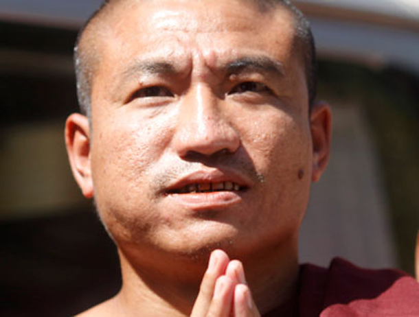 Former Buddhist monk Gambira is currently being detained at Rangoon's Insein Prison. (Photo: Reuters)