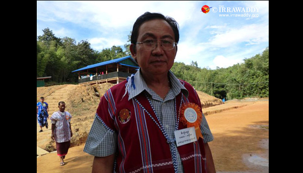 Newly elected Karen National Union General-Secretary Kwe Htoo Win. (Photo: The Irrawaddy)