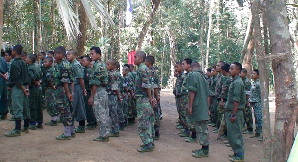 Chin National Front soldiers on parade. (Photo: chinland.org)