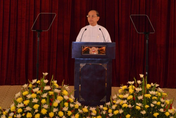 "Burma's President Thein Sein on Wednesday addressed a cabinet meeting in Naypyidaw during which he announced a ""third phase of reform"" aimed at tackling government corruption. (Photo: President's Office website)"