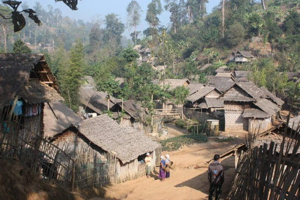 Ban Mai Nai Soi, in Thailand's northwestern province of Mae Hong Son, is the biggest refugee camp in Thailand. (Photo: Echo Hui / The Irrawaddy)
