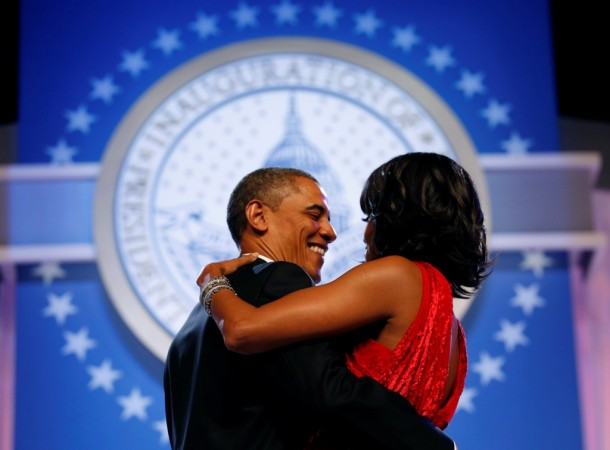 US President Barack Obama and first lady Michelle Obama dance at the Inaugural Ball in Washington on Jan. 21, 2013. (Photo: Reuters)