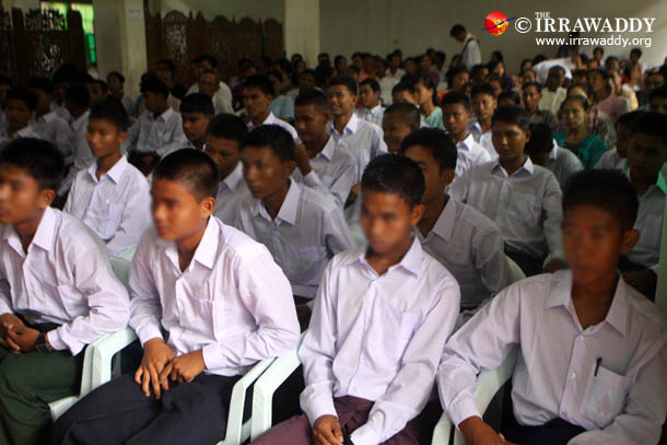 A group of 42 child soldiers were discharged from the Burmese army during a ceremony in September, 2012. (Photo: The Irrawaddy)