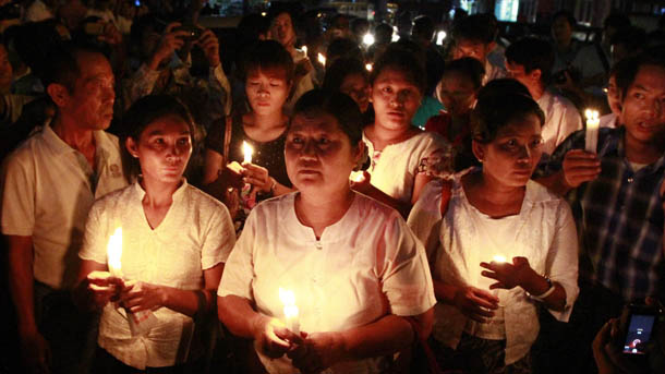 Residents of Rangoon held large-scale protests in May against the frequent power cuts. (Photo: The Irrawaddy)