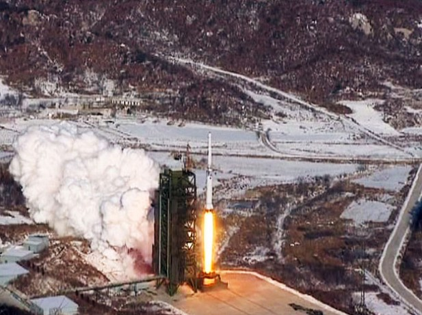 North Korea scuttled its chances of getting more foreign food assistance by launching this Unha-3 rocket in December 2012. (Photo: KCNA)