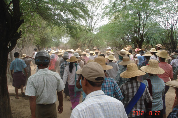 Protesters march against the Letpadaung copper mine in August 2012. (Photo: Open Society Monywa)