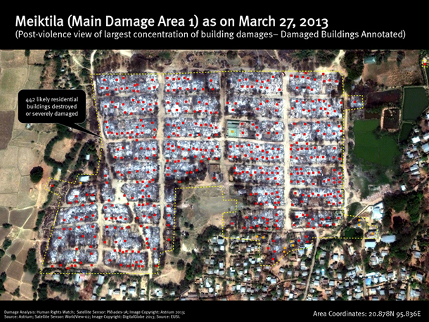 882 Homes Torched in Meikhtila, Satellite Images Show | The Irrawaddy Magazine