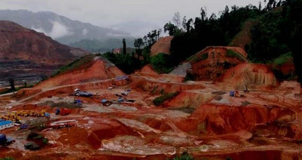 The construction site of the suspended Myitsone Dam, located in Kachin State. (Photo: The Irrawaddy)