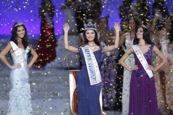 WenXia Yu, 23, from the People's Republic of China won the 2012 Miss World competition which took place in Ordos, China last year.