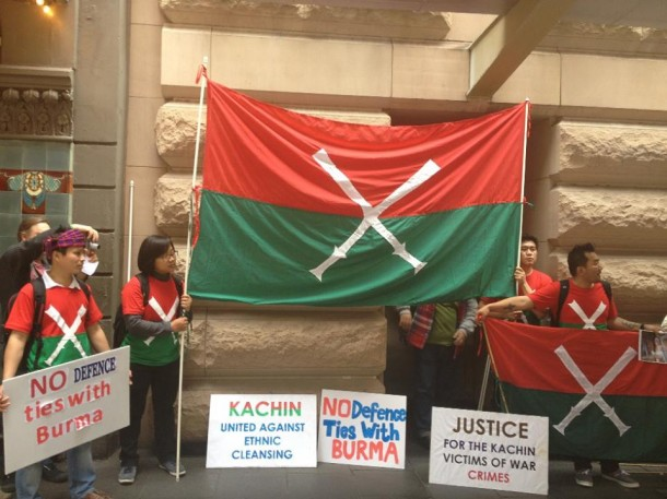 Kachin communities and their supporters in Sydney joined a Global Day of Action on Friday. (Photo: Kachin Association Australia)