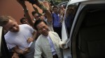 Burmese ex-spy chief Khin Nyunt talks to reporters after voting at a polling station in Mayangone Township on April 1, 2012. (Photo: Reuters)