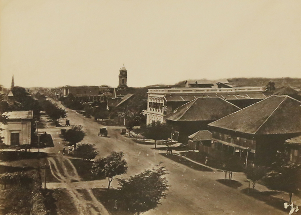 Merchant Street in Rangoon in the 19th century. (Photo: JPaing / The Irrawaddy)