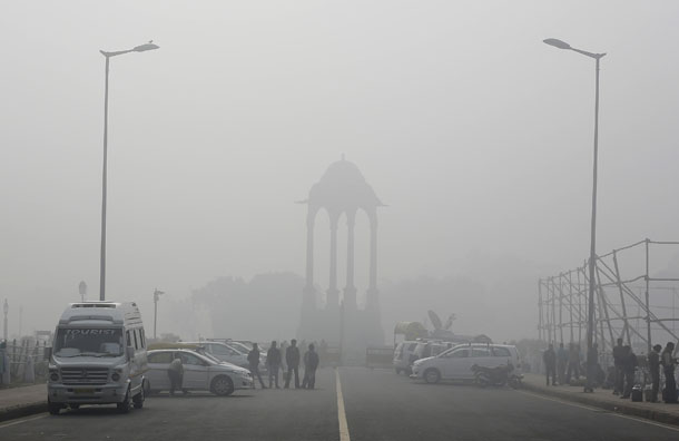 India, China, Beijing, New Delhi, smog, pollution