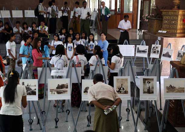 Myanmar, Burma, The Irrawaddy, British Library, Rangoon, Yangon, Universities' Central Library, photo exhibition,