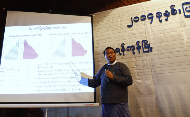 Myanmar, Burma, The Irrawaddy, census