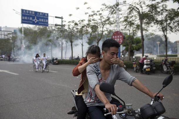 China, protest, human rights, crackdown, plant, chemicals,