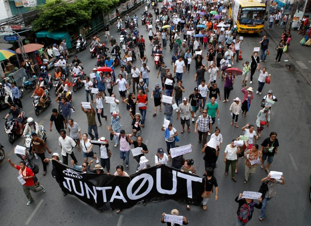 anti-coup protests in Thailand