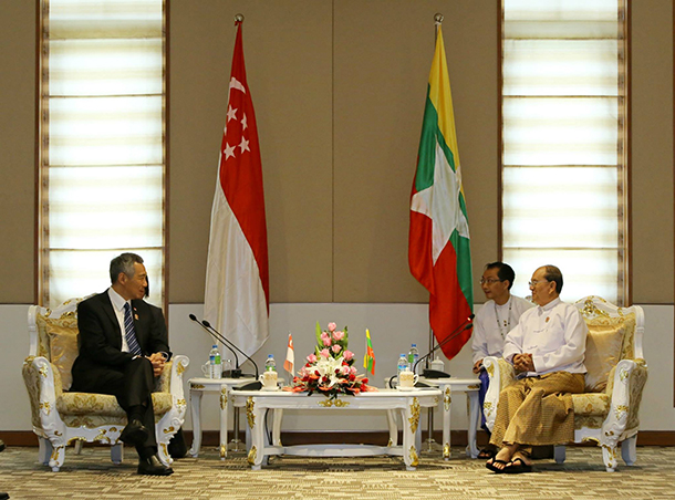 Singapore, Myanmar, Burma, Lee Hsien Loong, Association of Southeast Asian Nations, Naypyidaw, Asean