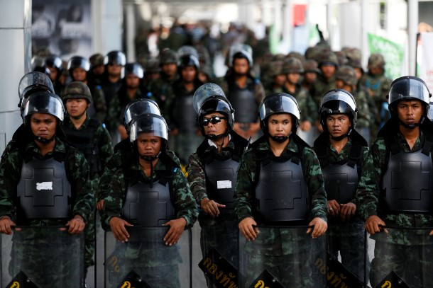 Thai coup, anti-coup protests