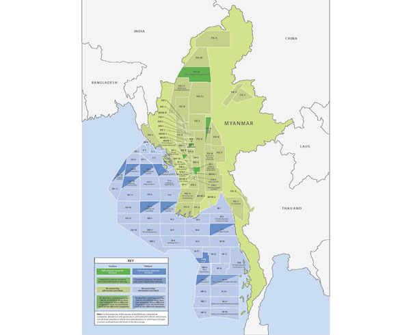 oil and gas corruption Myanmar