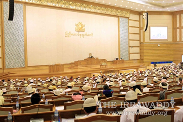A session of Union Parliament in Burma's capital, Naypyidaw. (Photo: The Irrawaddy)