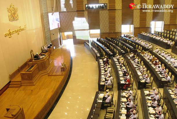 A session of the Upper House of Parliament in Naypyidaw. (Photo: The Irrawaddy)
