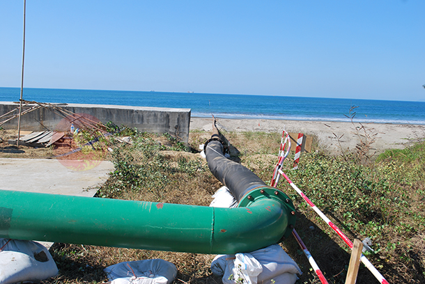 The Chinese-backed Shwe gas pipeline is seen in Arakan State. (Photo: Ko Soe / The Irrawaddy)