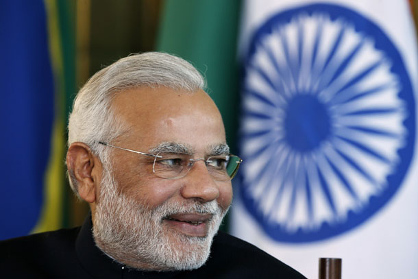 India's Prime Minister Narendra Modi is pictured at the 6th BRICS summit at the Alvorada Palace in Brasilia July 16, 2014. (Photo: Reuters)