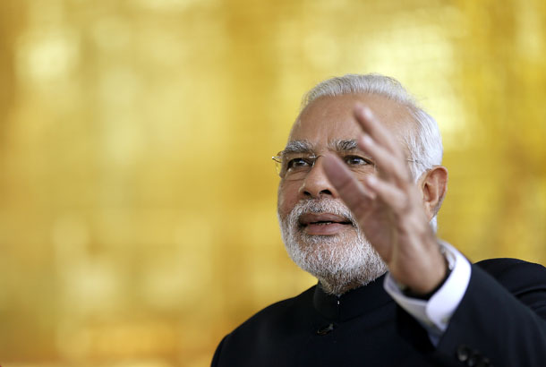 India's Prime Minister Narendra Modi is pictured at the 6th BRICS summit at the Alvorada Palace in Brasilia ON July 16, 2014. (Photo: Reuters)