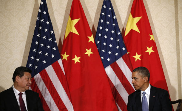 U.S. President Barack Obama (R) meets China's President Xi Jinping, on the sidelines of a nuclear security summit in The Hague, the Netherlands, on March 24 2014. (Photo: Reuters)