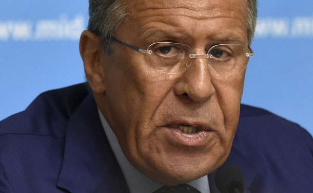 Russian Foreign Minister Sergei Lavrov speaks during a news conference in Moscow, July 28, 2014, addressing Western economic sanctions. (Photo: Reuters)