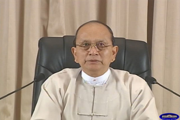 Burmese President Thein Sein delivers a monthly radio address. (Photo: The President's Office)