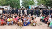 Illegal Burmese migrants who were arrested by Thai police in Mae Sot in early June. (Photo: Mann Myo Myint / The Irrawaddy)