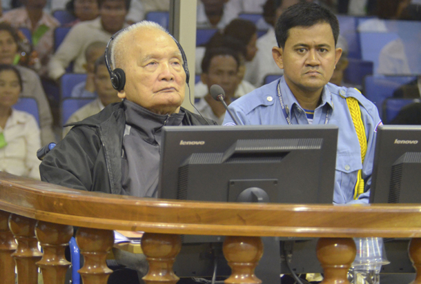 "Former Khmer Rouge leader Nuon Chea, ""Brother Number Two,"" is one of two former regime leaders sentenced to life imprisonment on Thursday by an UN-backed war crimes tribunal in Cambodia. (Photo: Reuters)"