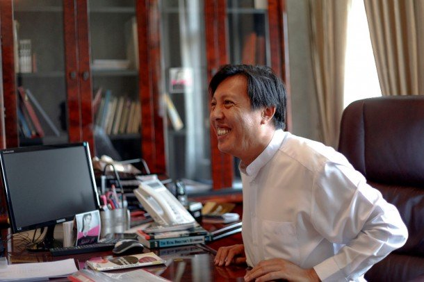 Zaw Zaw, one of Burma's youngest but best-connected tycoons, in his Rangoon office in March 2012. (Photo: Reuters)
