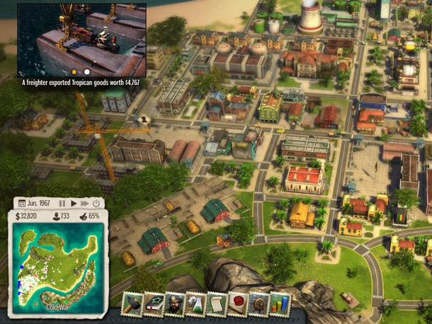 "A screenshot shows an image from the computer game ""Tropico 5,"" which has been banned in Thailand because of fears it ""might affect peace and order in the country."" (Photo: Kalypso Media)"