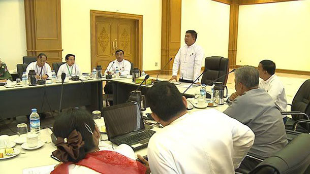 The newly formed Lower House parliamentary commission to discuss Burma's electoral system met for first time on Thursday, July 31, 2014. (Photo: Hluttaw Channel / Facebook)