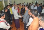 President Thein Sein meets with Shan, Wa and Mongla leaders in Naypyidaw on Monday. (Photo: President's Office)