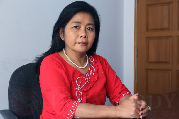 Dr. Khin Mar Mar Kyi says women must be allowed to participate more fully in Burma's ongoing peace process. (Photo: Sai Zaw / The Irrawaddy)