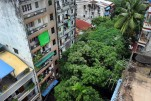 Apartments are seen in a residential neighborhood of Rangoon. (Photo: Steve Tickner / The Irrawaddy)